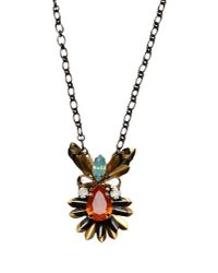 Deepa Gurnani - Metallic Necklace - Lyst