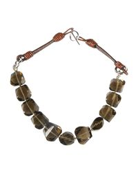 Brunello Cucinelli | Brown Necklace | Lyst