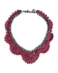 Venessa Arizaga - Pink Necklace - Lyst