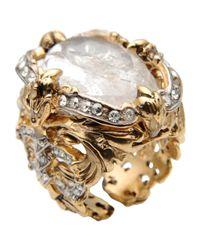 Roberto Cavalli | Metallic Ring | Lyst