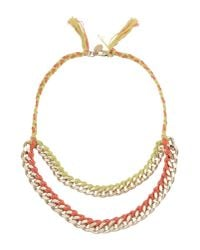Liu Jo   Pink Necklace   Lyst