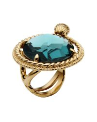 Just Cavalli - Blue Ring - Lyst