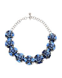 Shourouk - Blue Necklace - Lyst