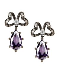 CZ by Kenneth Jay Lane | Purple Earrings | Lyst
