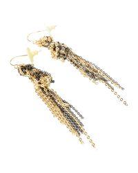 Gemma Redux - Metallic Gold and Gunmetalplated Earrings - Lyst