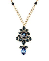 Oscar de la Renta - Blue Necklace - Lyst