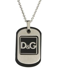 Dolce & Gabbana - Gray Necklace for Men - Lyst
