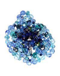 Lanvin | Blue Brooch | Lyst