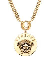 Versace | Metallic Ladies' Medusa Pendant Necklace | Lyst