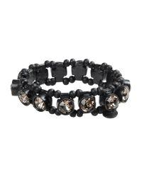 Philippe Audibert | Black Olive Crystal and Bead Bracelet | Lyst