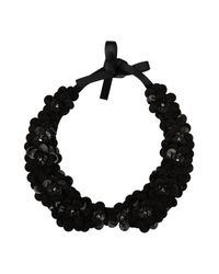 INTROPIA - Black Necklace - Lyst