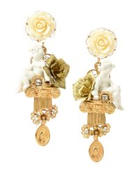 Dolce & Gabbana | White Earrings | Lyst
