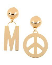 Moschino | Metallic Earrings | Lyst