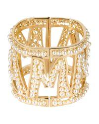 Dolce & Gabbana Metallic Mamma Pearl Cuff