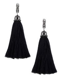 Lanvin - Black Marina Swarovski-Embellished Earrings - Lyst