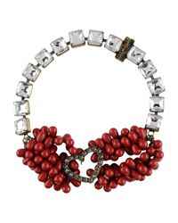 Twin Set - Red Necklace - Lyst