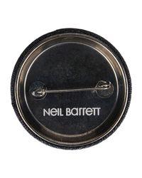Neil Barrett Gray Brooch