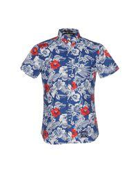 Camicia di Superdry in Blue da Uomo