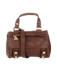 Golden Lane Brown Handbag