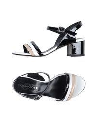 Donna Soft - Black Sandals - Lyst