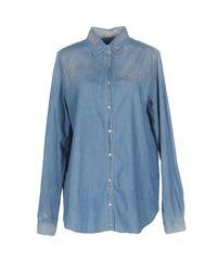 Pinko Blue Denim Shirts