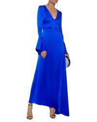 Robe longue Paper London en coloris Blue
