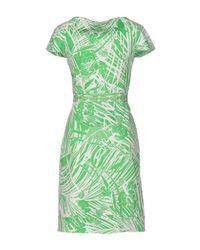 Class Roberto Cavalli Green Short Dress