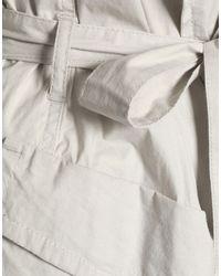 DKNY - Gray Overcoat - Lyst