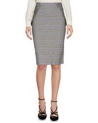 Annarita N. Black Knee Length Skirt