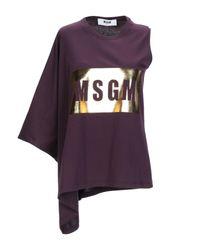 T-shirt di MSGM in Purple