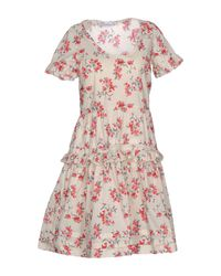 RED Valentino - White Short Dress - Lyst