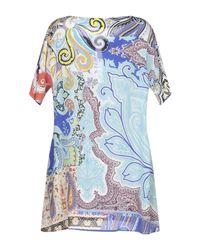 Robe courte Etro en coloris Blue