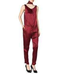 Thakoon | Red Jumpsuit | Lyst