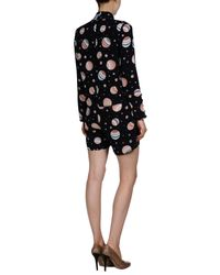 See By Chloé - Black Printed Crepe Playsuit - Lyst