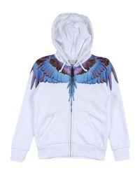 Marcelo Burlon White Sweatshirt for men