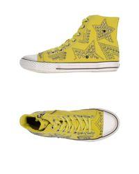 Sneakers & Tennis montantes Ash en coloris Yellow