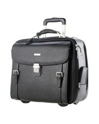 Brooks Brothers Black Wheeled Luggage for men