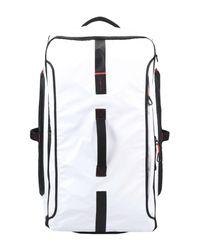 Samsonite White Wheeled Luggage