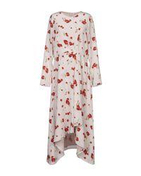 Vilshenko Pink 3/4 Length Dress
