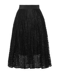 MILLY Black 3/4 Length Skirt