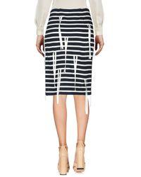 Goen.J Blue Knee Length Skirt