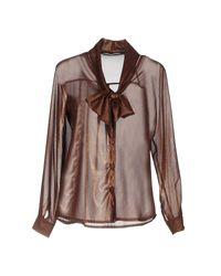 Camisa Angela Davis de color Brown
