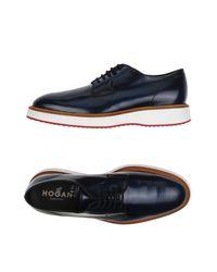 Hogan Blue Lace-up Shoe for men