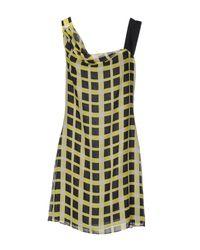 Pollini By Rifat Ozbek Yellow Short Dress