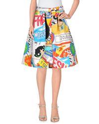 Moschino Yellow Knee Length Skirt