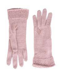 Jolie By Edward Spiers - Pink Gloves - Lyst