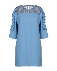 Relish Blue Kurzes Kleid