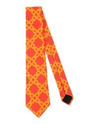 Mp Massimo Piombo Orange Tie for men