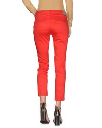 CafeNoir Red Casual Pants