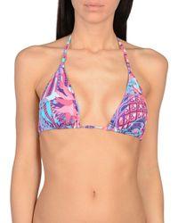 Fisico Blue Bikini Top